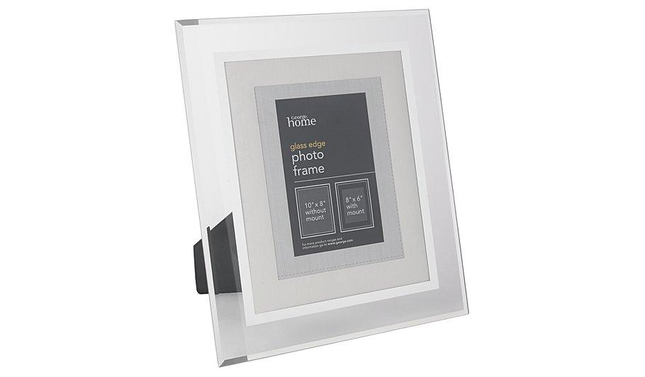george home dark grey glass frame 8 x 6 inch frames. Black Bedroom Furniture Sets. Home Design Ideas