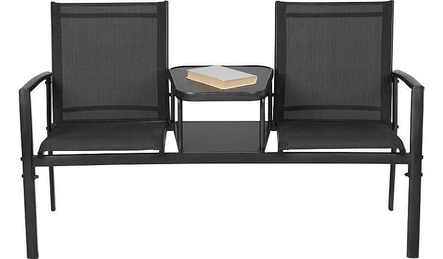 Miami Jack & Jill Garden Seat - Charcoal