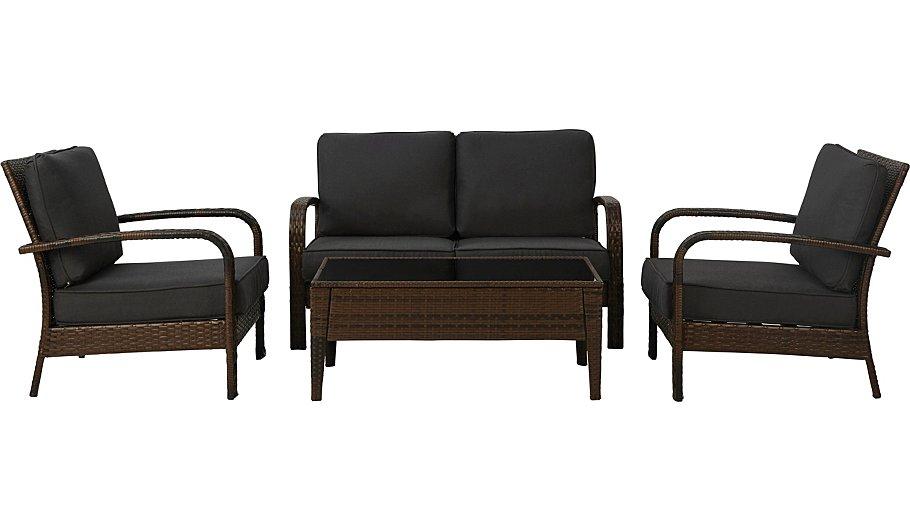 Jakarta 4 piece conversation sofa set conservatory for Sofa jakarta