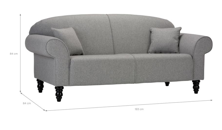George Home Elliott Medium Sofa In Fine Velvet Home
