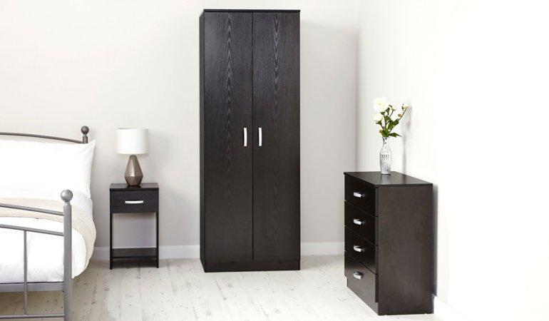 George Home Marlow Bedroom Furniture Range - Black Ash Effect
