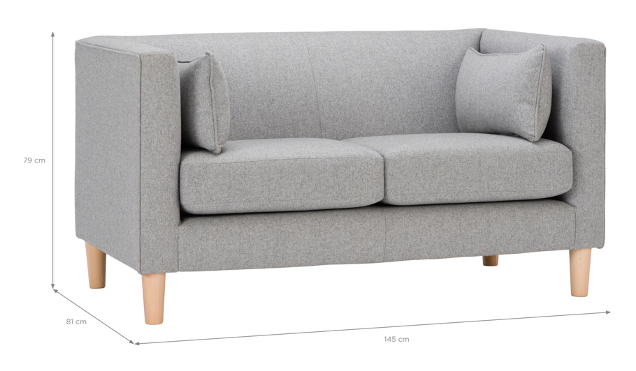 George Home Eugene Compact Sofa In Soft Linear Home