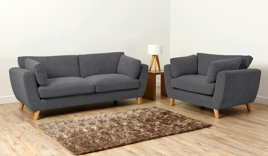 George Home Glynn Medium Sofa In Woollen Blend Home