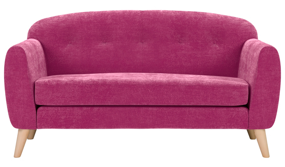 George Home Connor Compact Sofa In Plush Velour Home