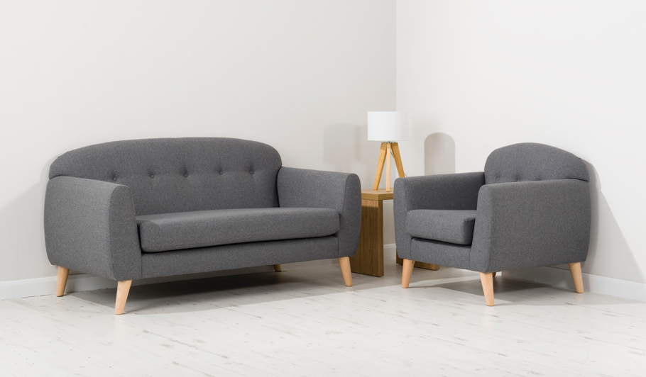George Home Connor Armchair In Woollen Blend Home