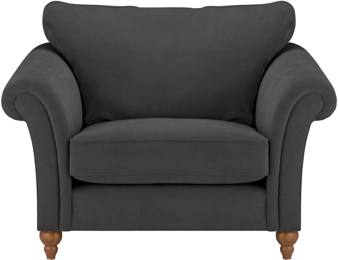 George Home Primrose Love Seat In Soft Linear Home