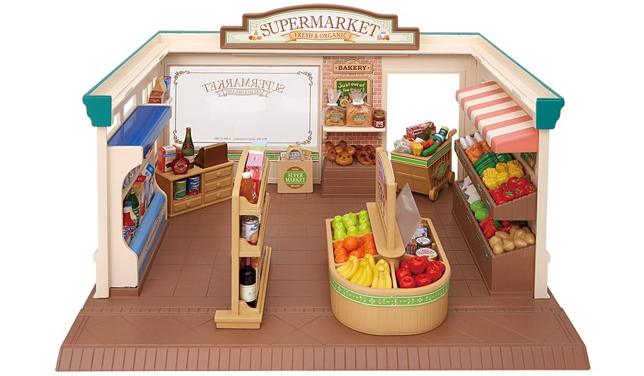 Sylvanian Families Supermarket And Owners Bundle