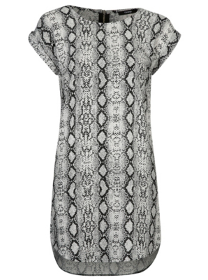 Snake Print Tunic Dress