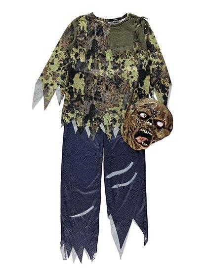Zombie Halloween Fancy Dress Costume Boys George At Asda