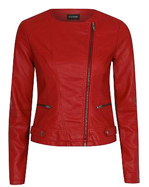 leather look jacket women george at asda. Black Bedroom Furniture Sets. Home Design Ideas