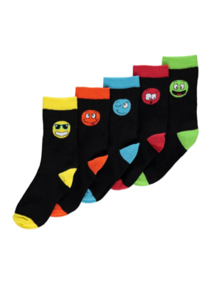 5 Pack Face Socks