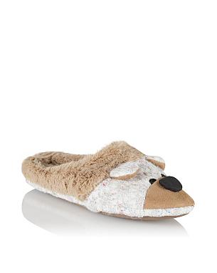 novelty bear slippers women george at asda. Black Bedroom Furniture Sets. Home Design Ideas