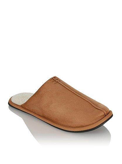 mule slippers men george at asda. Black Bedroom Furniture Sets. Home Design Ideas