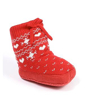 Christmas Fairisle Booties Baby George At Asda