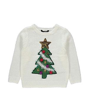 christmas tree jumper girls george at asda. Black Bedroom Furniture Sets. Home Design Ideas