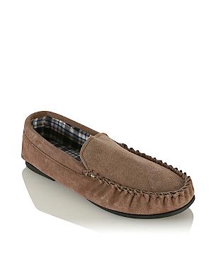 moccasin slippers men george at asda. Black Bedroom Furniture Sets. Home Design Ideas