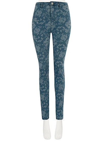 High Waisted Floral Jeans | Women | George at ASDA