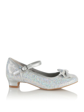 glitter bow shoes george at asda