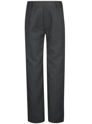 Boys School ½ Elasticated Waist Longer Length Trousers – Grey