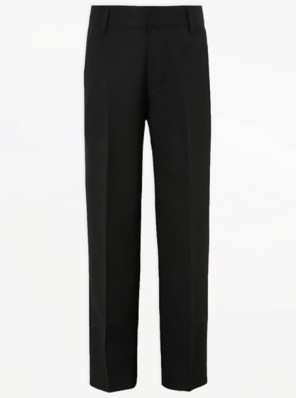 Boys School Long Length Trousers – Black | School | George at ASDA