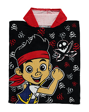 jake and the never land pirates hooded poncho towel kids. Black Bedroom Furniture Sets. Home Design Ideas