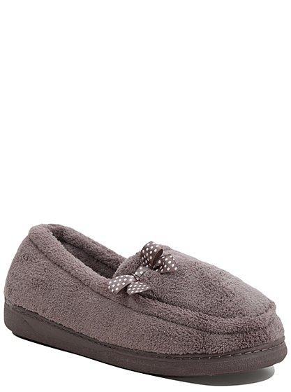 bow detail fullback slippers women george at asda. Black Bedroom Furniture Sets. Home Design Ideas