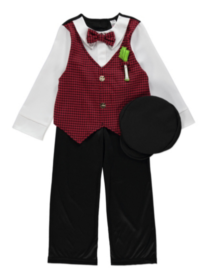 Traditional Boys Welsh Fancy Dress Costume Kids George