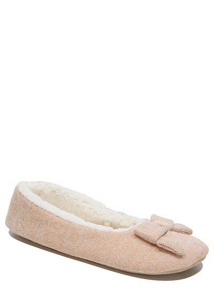ballet style slippers women george at asda. Black Bedroom Furniture Sets. Home Design Ideas