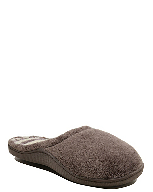 cosy mule slippers women george at asda. Black Bedroom Furniture Sets. Home Design Ideas