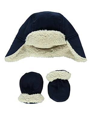Trapper Hat And Mittens Set Baby George At Asda