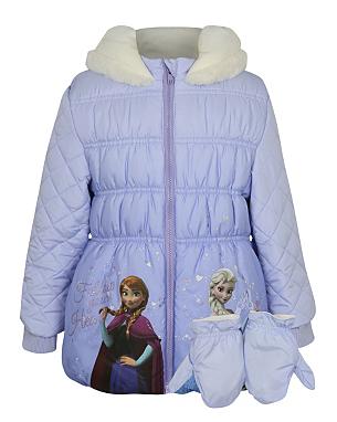 disney frozen padded jacket kids george at asda. Black Bedroom Furniture Sets. Home Design Ideas