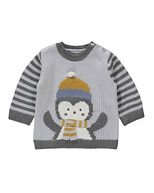 Free Knitting Pattern For Baby Cardigan : Knitted Penguin Jumper Baby George at ASDA