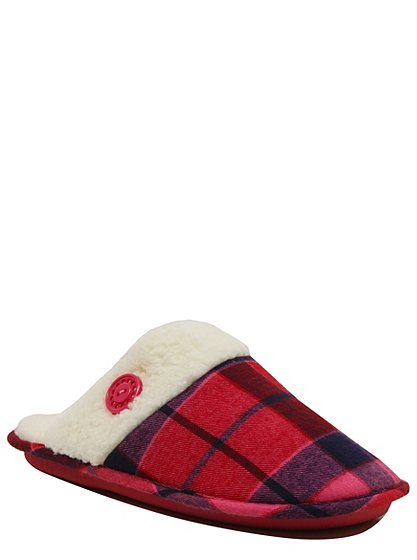 chequered mule slippers women george at asda. Black Bedroom Furniture Sets. Home Design Ideas