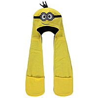 Despicable Me Minions Hooded Scarf Kids George at ASDA