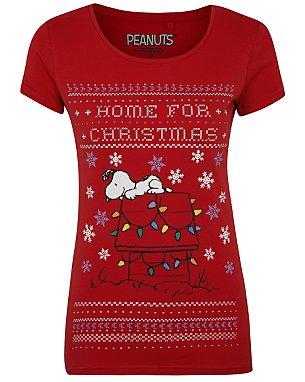 Peanuts Snoopy Christmas T-Shirt | Women | George at ASDA