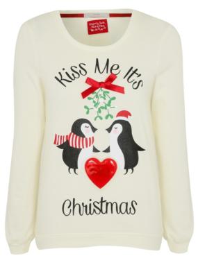 Musical light up christmas penguin sweatshirt women george at asda