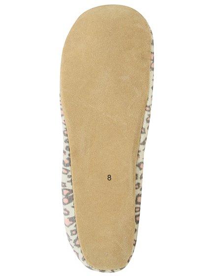 leopard print slippers women george at asda. Black Bedroom Furniture Sets. Home Design Ideas