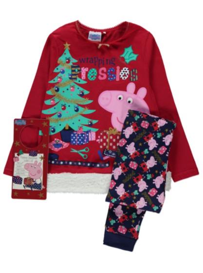 Peppa Pig Christmas Pyjamas Kids George At Asda