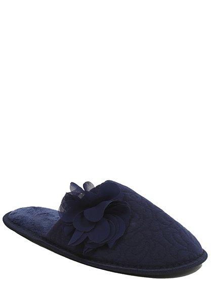 floral detail mule slippers women george at asda. Black Bedroom Furniture Sets. Home Design Ideas