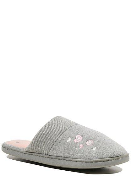 hidden support mule slippers women george at asda. Black Bedroom Furniture Sets. Home Design Ideas