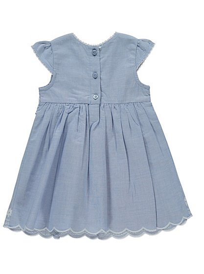 Embroidered chambray dress baby george at asda for George at asda wedding dresses