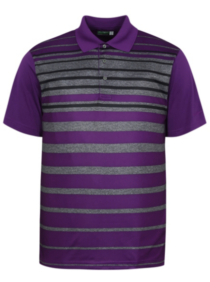 Ben hogan striped golf polo shirt men george at asda