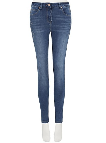 Embroidered skinny jeans women george at asda