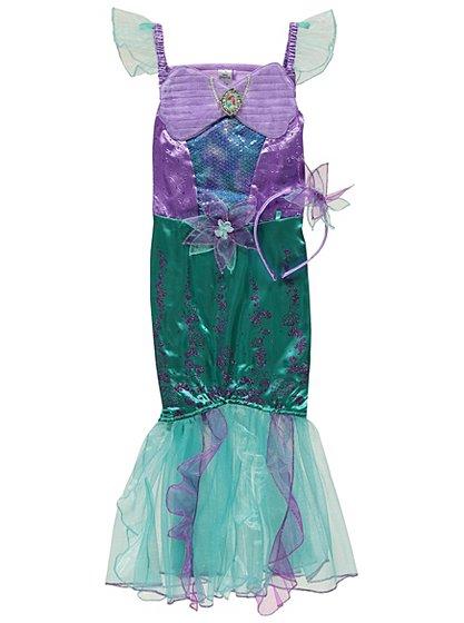 Disney princess ariel fancy dress costume kids george for Disney princess mural asda