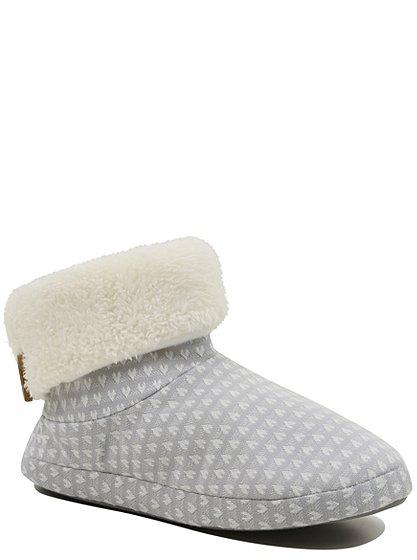 heart print boot slippers women george at asda. Black Bedroom Furniture Sets. Home Design Ideas