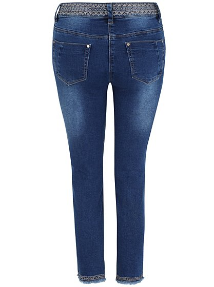 Embroidered cropped jeans women george at asda