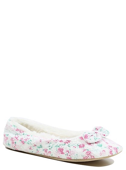 Flower baskets asda : Floral ballerina slippers women george at asda