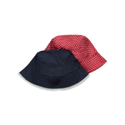 George 2 Pack Bucket Hats - Red