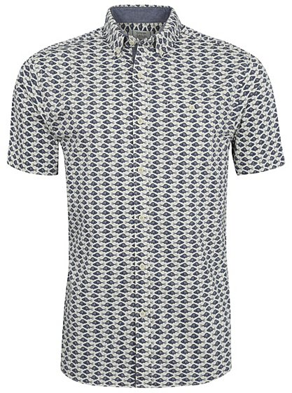 Short sleeve fish print shirt men george at asda for Fish print shirt