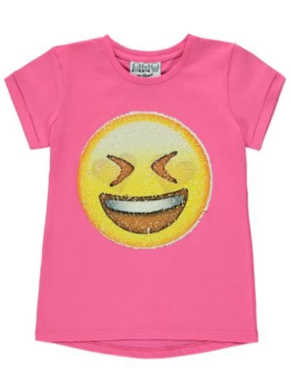Sequin Emoji T-Shirt | Kids | George at ASDA